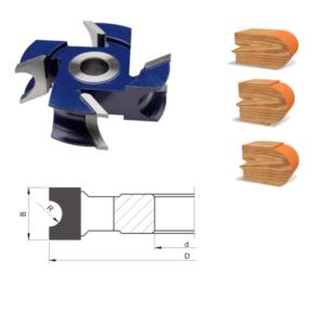 Globus Frez nasadzany do drewna HSS półokrągły