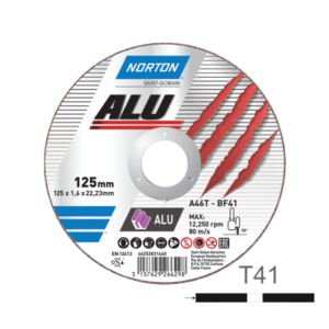 tarcza do cięcia aluminium 125 norton alu